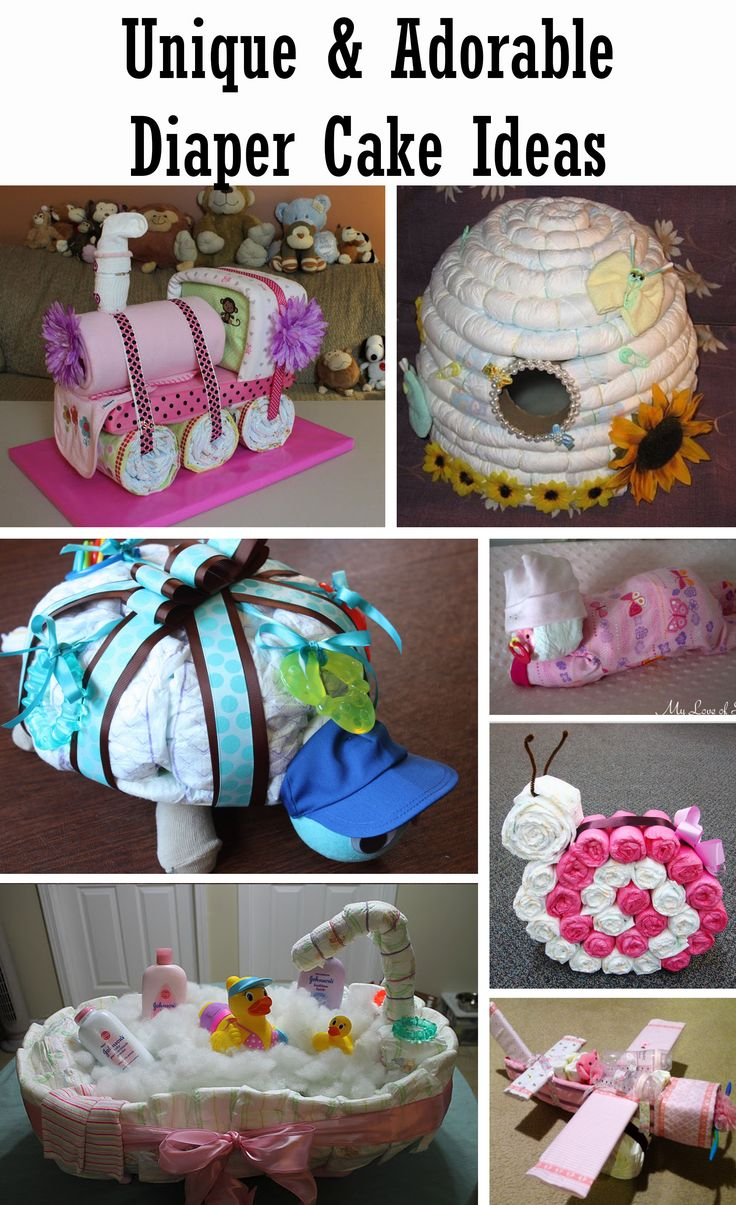 Adorable Diaper Cake Ideas Diy baby shower gifts, Diaper