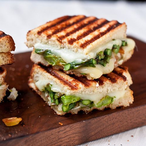 Goat Cheese and Asparagus Grilled Cheese