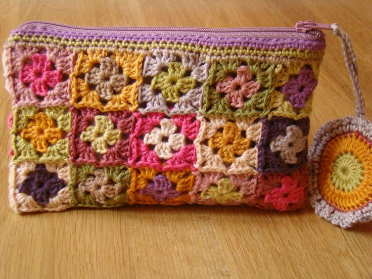 Idea - granny squares/squares joined up for a case