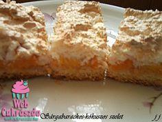 Sárgabarackos-kókuszos szelet