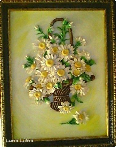 Картина панно рисунок Лепка Маленькие солнышки Тесто соленое фото 1
