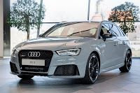 Nardo Gray RS3 Sportback by Audi Exclusive on Display at Audi Forum Neckarsulm
