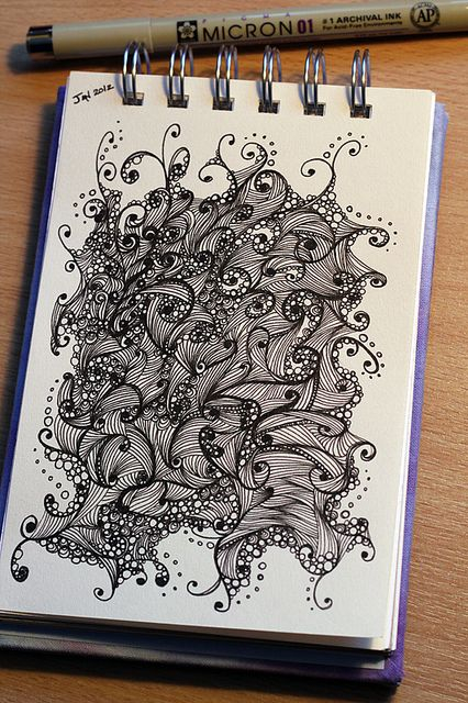 Tiny And Intense!!#1/52 Sketchbook Doodle - January Week 1 by Illusio Creative, via Flickr