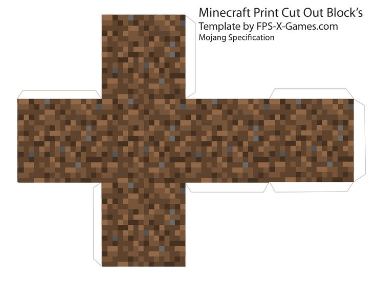 Here are six great printable cut out block's from Minecraft, templates cube's by myself from Mojang Specification. Description from minecraftblog.me. I searched for this on bing.com/images