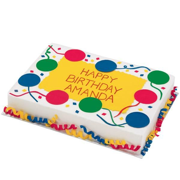 Bountiful Balloons Birthday Cake - Take birthday celebrations to new heights with balloons and streamers made with our colorful Sugar Sheets! So many great colors and design options.