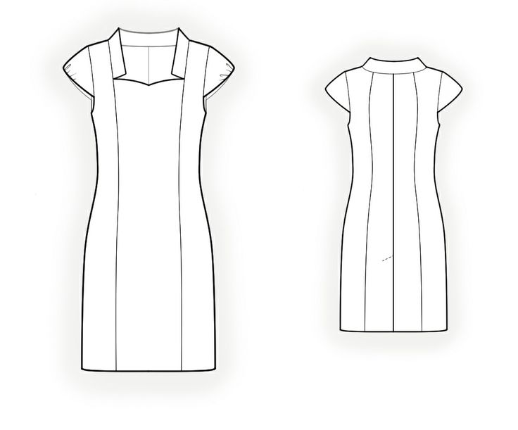Dress With Princess Seams  - Sewing Pattern #4184 Made-to-measure sewing pattern from Lekala with free online download.