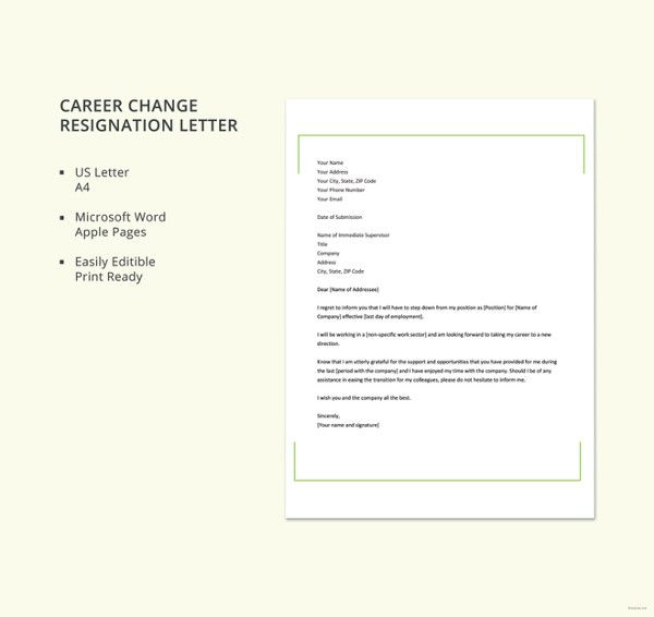 Resignation Letter Templates - 16+ Free Word, PDF Format ...