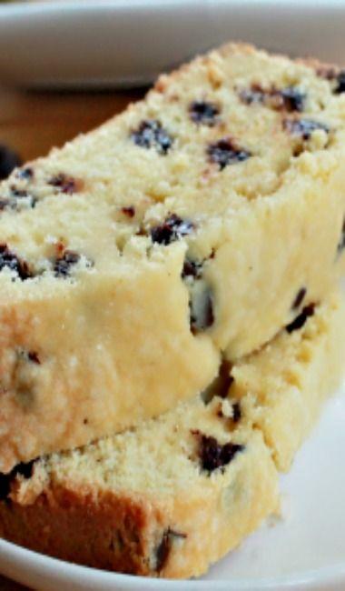 CHOCOLATE CHIP POUND CAKE Serves: 4-6  ==Ingredients== 1 3/4 c flour, 1/4 t salt, 2 eggs, 2 egg yolks, 1 T vanilla, 3/4 c butter, 1 c sugar, 1 c chocolate chips   =========