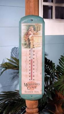 Mermaid Cove vintage-style tin sign thermometer ($16.95)
