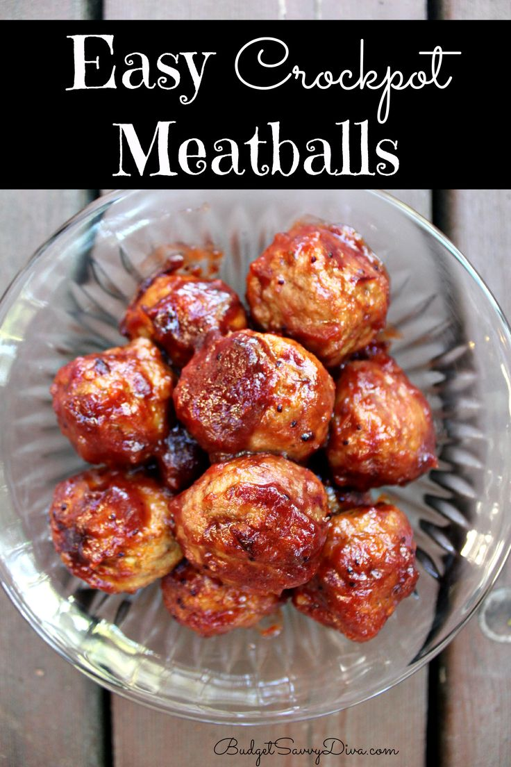 14 best slow cooker images on pinterest for Meatball appetizer recipe crockpot