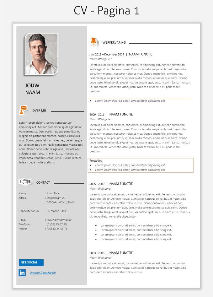 CV template 2020 om te downloaden