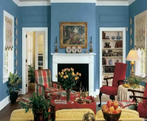 67 best rooms by color red yellow and blue images on - Traditional living room paint colors ...