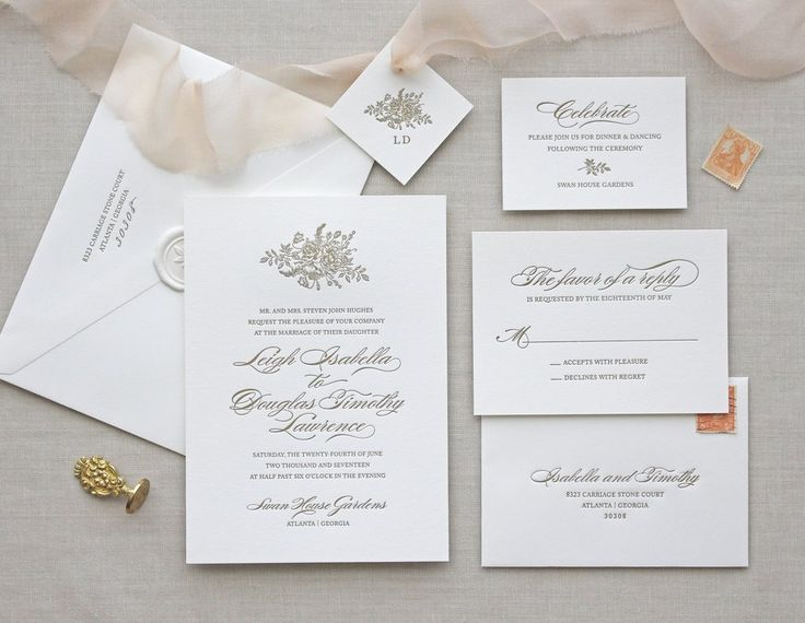 Letterpress Wedding Invitation / Bouquet design / CHATHAM & CARON letterpress studio / Letterpress Invitations, Letterpress Wedding Invitations, Classic, Modern, Calligraphy, Wedding Invitations, Elegant, Monogram Invitation, Script, Pretty, Timeless, Affordable, Calligraphy, Vintage