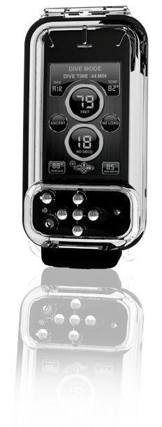 Igills Iphone waterproof case, you can safely dive with your phone to a depth of 130 feet, and keep track of when you need to surface.