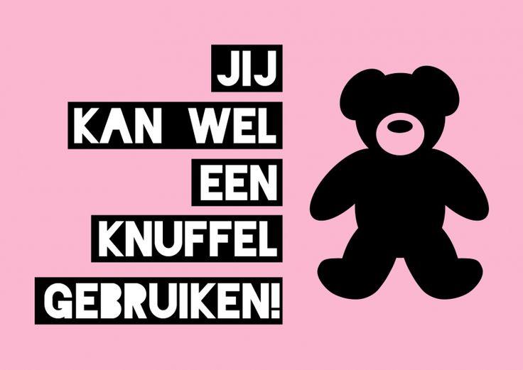 Kaartje Jij kan wel een knuffel gebruiken! Ontwerp: byBean. Je shopt 'm hier: http://www.bybean.nl/kaartjejijkanweleenknuffelgebruiken