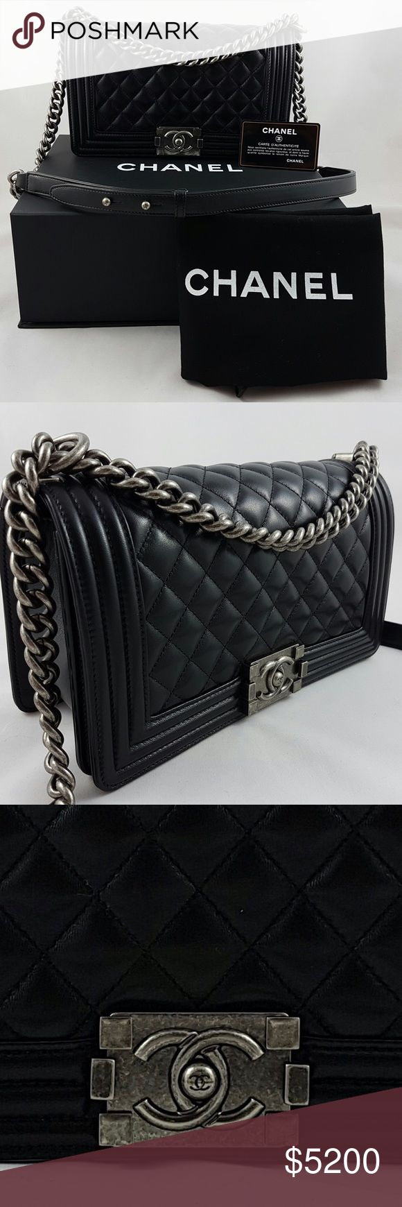 Chanel Boy Old Medium Lambskin Ruthenium 💯 AUTHENTIC  🎀 BRAND NEW ⛔️ NO TRADES  ⬇️ DISCOUNTED  ✈️ SHIPS QUICKLY   AUTHENTICITY AND QUALITY WILL BE VERIFIED BY POSHMARK CONCIERGE PRIOR TO BUYER RECEIVING THEIR ORDER.   Prior to purchasing the bag, try it in person at your local boutique or department shop to make sure that you are happy with the size and overall look. If you ask for dimensions, it means you have no idea what you're buying. CHANEL Bags Crossbody Bags