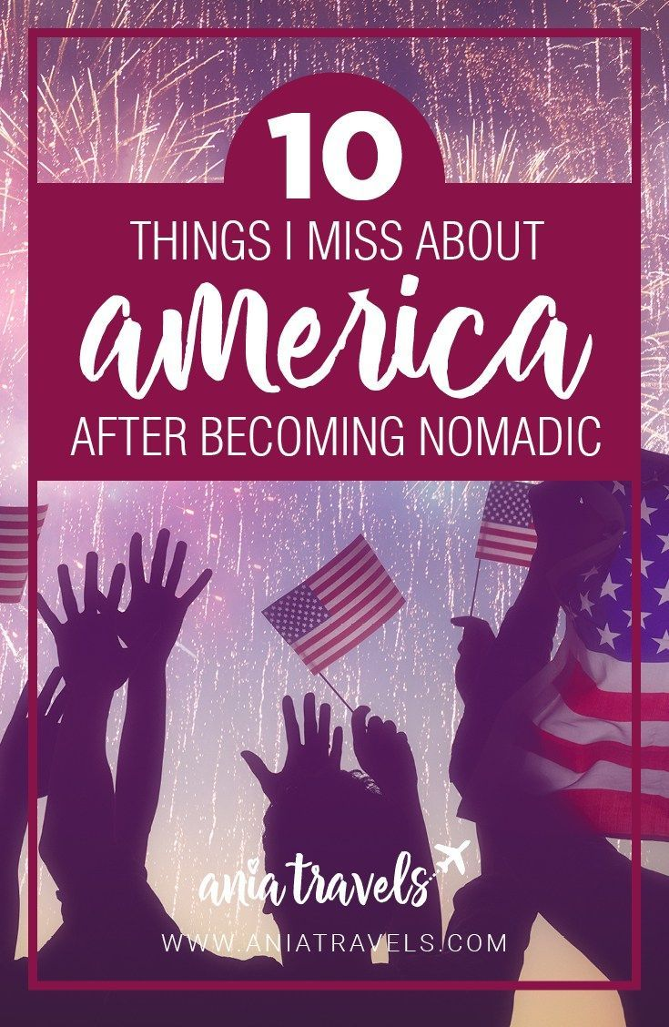 I've been nomadic for quite a while already and it's safe to say that my friends miss me more than I miss America. Here is what I miss about America.   America   North America   USA   Nomad   Nomad lifestyle   Things I miss about America after becoming nomadic