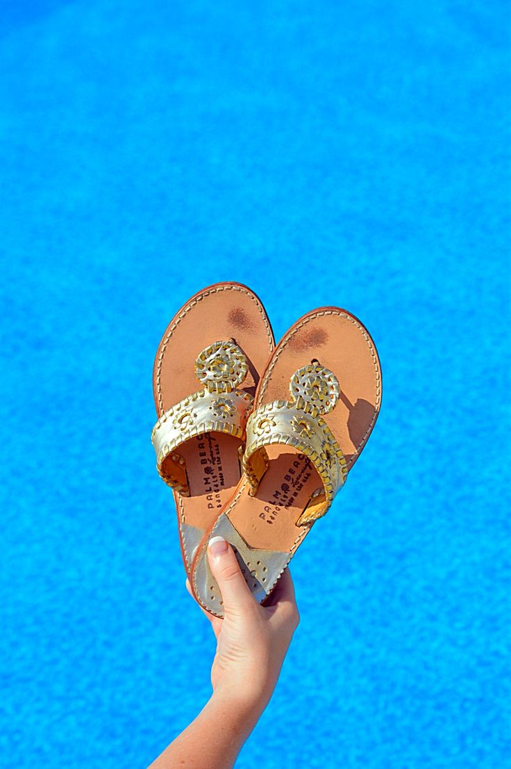 Palm Beach Sandals by the Pool