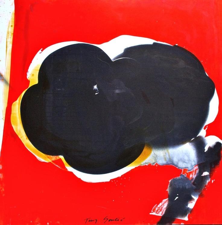 """""""Flower, 2010 """" by Tony Soulié -  Mixed technique on wood 125 x 125 cm #flower #painting #Soulier"""