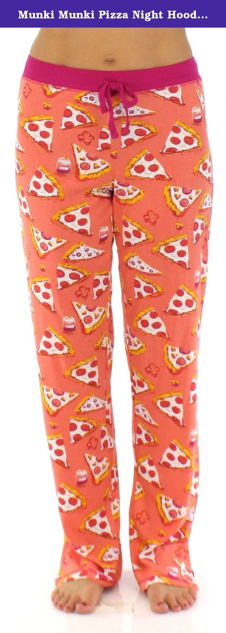 Munki Munki Pizza Night Hooded PJ Set - Medium. Munki Munki long sleeve pajamas are lightweight with just enough stretch, they'll keep you comfortable day or night. Each set features a fun and playful design with thumbholes in the cuffs for easy layering Sizing: XS (2-4), Small (4-6), Medium (8-10), Large (10-12), XL (12-14).