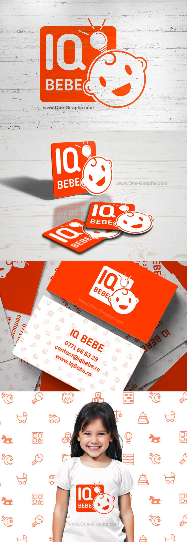 Brand Identity Portfolio - Iq Bebe www.iqbebe.ro #logodesign #branding…