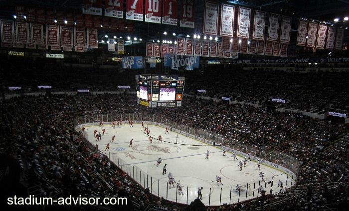 The rich history of the Detroit Red Wings at Joe Louis Arena is all around, especially seeing the championship banners linig the roof. http://www.stadium-advisor.com/red-wings-schedule.html