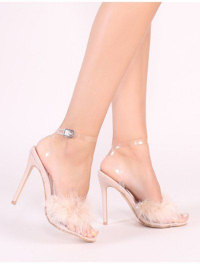 ae3b8a0d744 $45 Bunny Feather Stiletto Heels in Nude Click the link below to ...