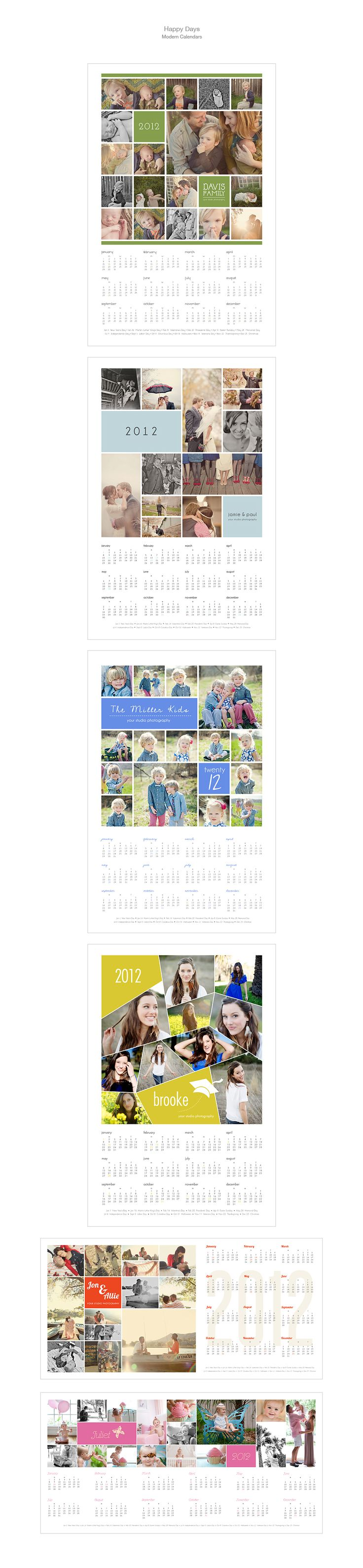 Happy Days - Modern Calendar Collection photography template by Design Aglow