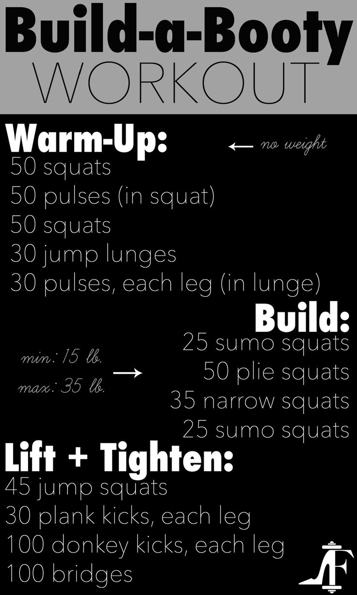 The only butt workout you need. Build, lift & tighten!