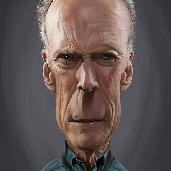 Clint Eastwood art   decor   wall art   inspiration   caricature   home decor   idea   humor   gifts