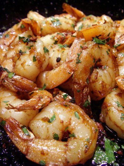 My favorite way to cook shrimp - Spanish Shrimp.  I use any wine I have on hand - no need to get sherry.  Serve this with some good bread, bruschetta is especially good.