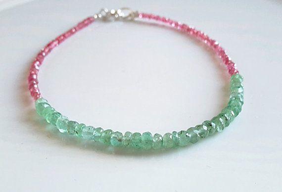 Pink Spinel Ruby bracelet Genuine Ruby Bracelet by LisaCreazioni
