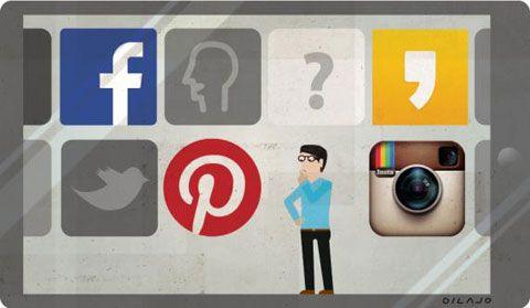 '소셜 미디어 마케팅' 삽화