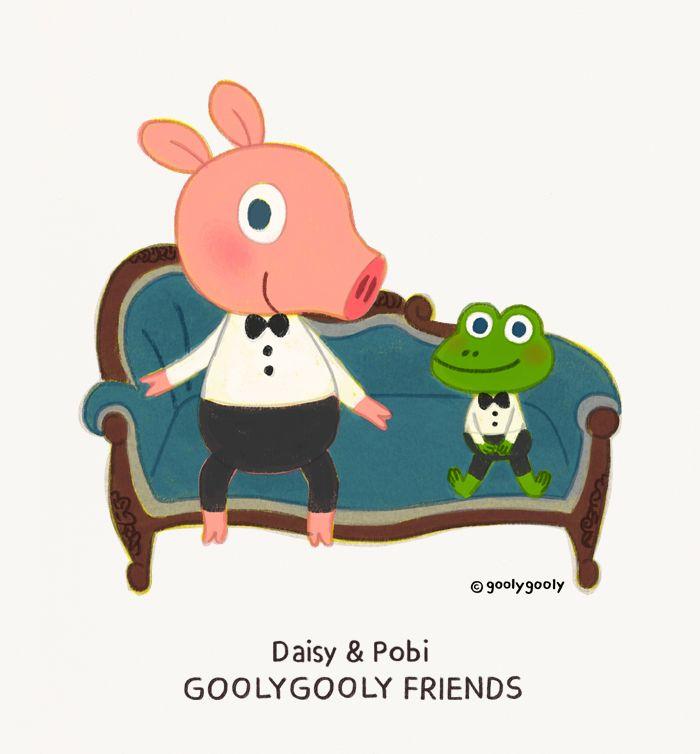 ARTBOOK PROJECT 2015 GOOLYGOOLY FRIENDS / Daisy&Pobi  ------------------------------- < 모바일/PC 바탕화면 다운받기 > GOOLYGOOLY FRIENDS >> download http://grafolio.net/illustration/wallpaper.grfl?projectNo=30804