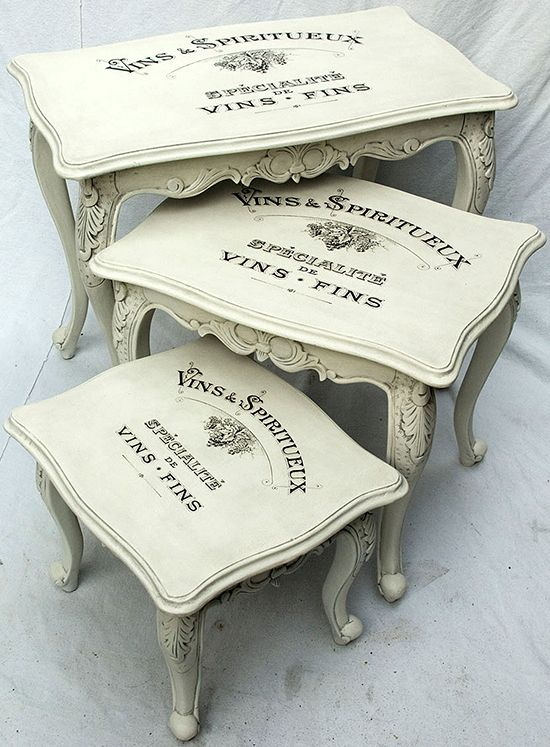 Painted Vintage Nesting Tables - Reader Featured Project - The Graphics Fairy