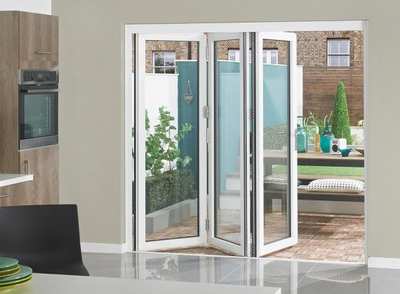 Supreme Aluminium Bi Fold Doors 7ft White External