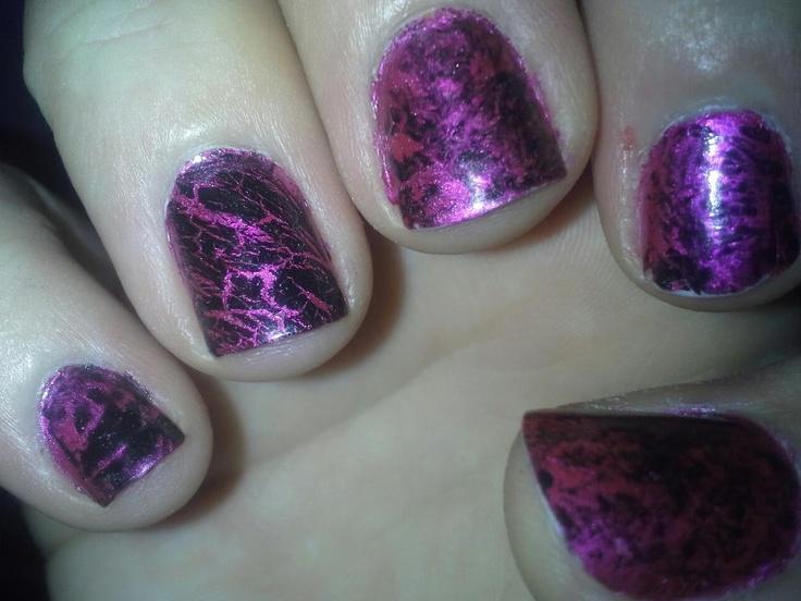 Pinkies for a Penny: Saran Wrap Nails