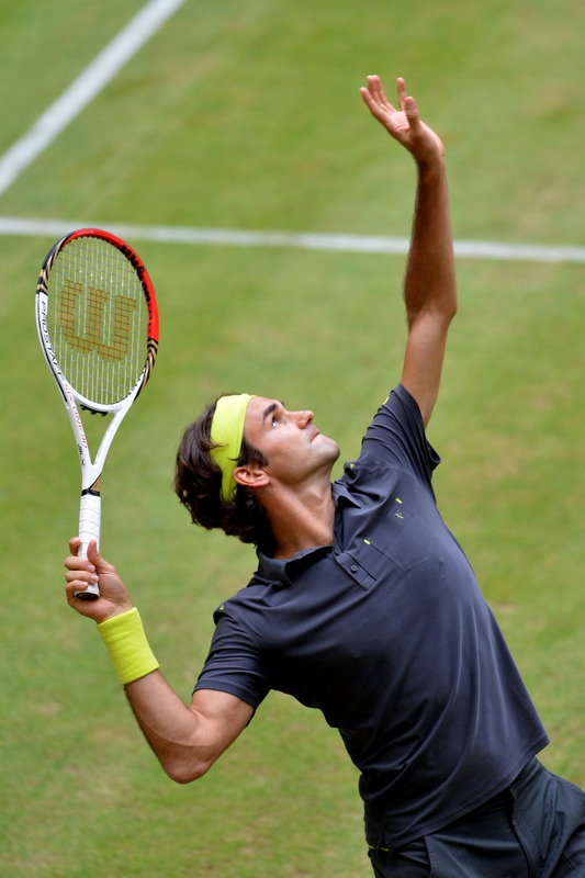 Classic Roger Federer Serve. Halle, June 2012