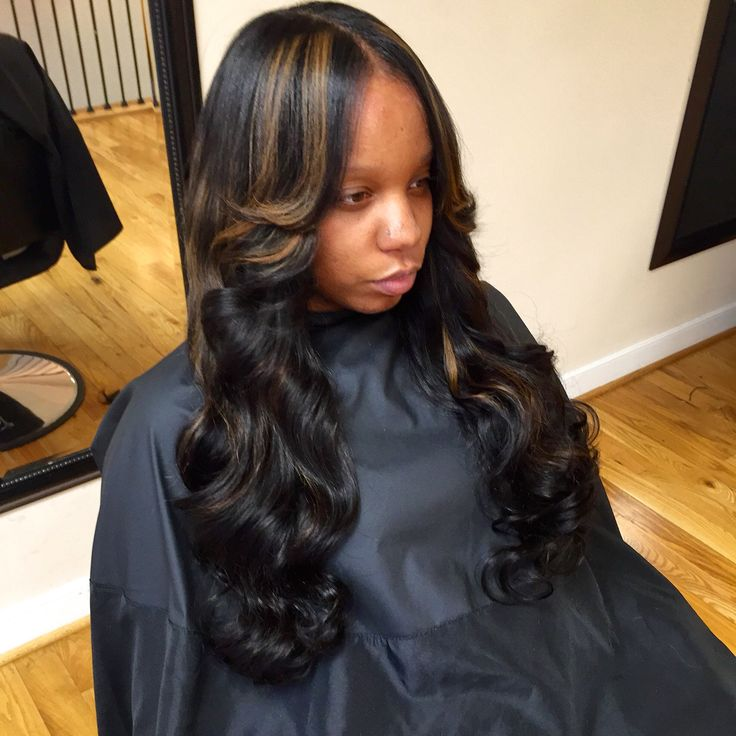 Sew-In With Little Leave Out #naturalhair #virginhair #haircolor Pink & Black Hair Studio 11e ...