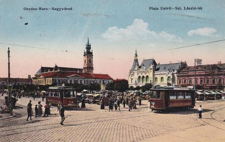 Oradea , Piata Unirii anii 1920