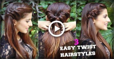 1 minute NICE & EASY Coiffure Twist de tous les jours pour l'école, le collège, le travail / Quick Hair Tutorial - #quotidien # styles #hochschu ...