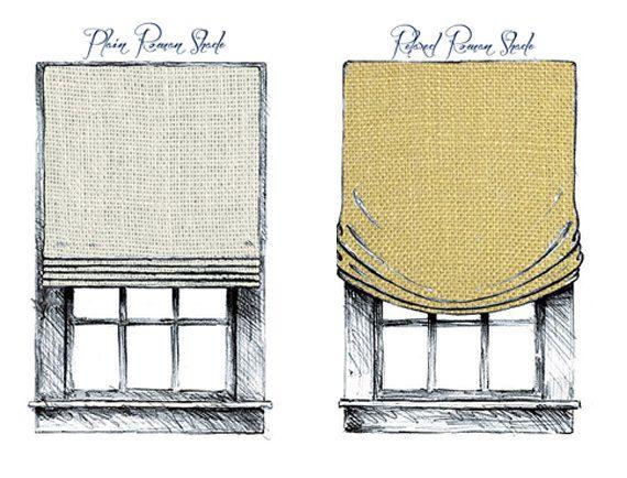 Flat Roman Soft Fold or Relaxed Shades Starting by MaribelClaribel, $95.00  Kitchen Window Treatments