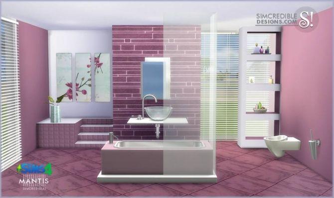 Mantis bathroom at simcredible designs 4 sims 4 updates for Bathroom ideas sims 4