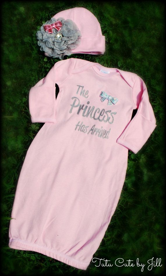 The Princess Has Arrived Pink And Silver Infant Layette