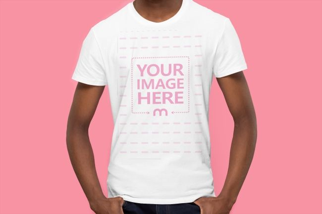 T Shirt Mockup Template With A Young Black Man Holding His Hands In Pocket Clothing Mockup Shirt Mockup Tshirt Mockup