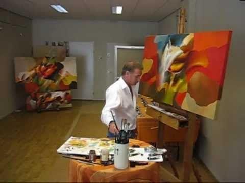 ▶ Schilderijenkunst op de Miljonair fair, nu Masters of LXRY - YouTube