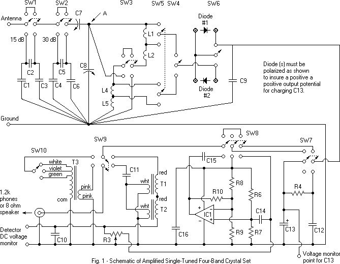 Dave39s Homemade DX Crystal Radio Schematic radios in 2019