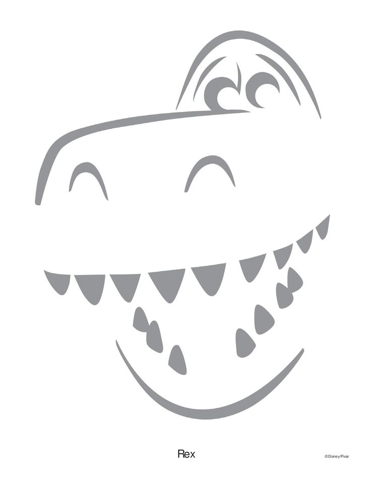 Rex Toy Story pumpkin Stencil