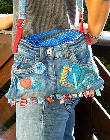 Bunte Nadel - Blog: Recycle-Style - Jeanstasche
