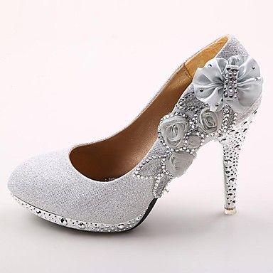 Women's Shoes Platform Round Toe Stiletto Heel Pumps Wedding Shoes More Colors available - BRL R$ 188,07